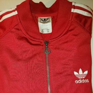 Red Adidas Jacket Mens Medium